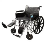 "Healthline 20"" Wheelchair Full Arm Padded Detachable W/ Padded Elevating Legrests and Calf Pads"