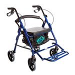 "Healthline Combo Transport Rollator Chair W/8"" Wheels, Loop Brakes"