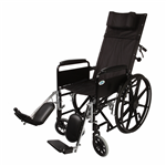 "Healthline 16"" Recliner Wheelchair with Detachable Full Arms W/Elevating Legrests"